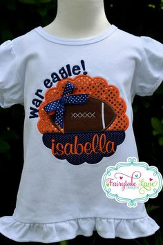 Custom Boutique Personalized AUBURN WAR EAGLE Sparkle Football Shirt