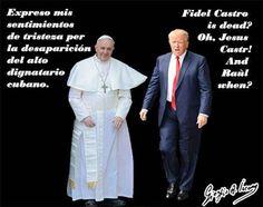 Bergoglio e Trump diversamente tristi per la morte di Castro I funerali si terranno il 4 dicembre e proclamati nove giorni di lutto nazionale. L'ex numero uno era riapparso in pubblico nel giorno del suo 90esimo compleanno ad agosto nel teatro Karl Marx de L'A #fidelcastro
