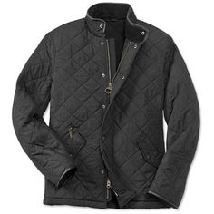This Cheslea-style winter jacket for men is constructed with polar quilt material for a supremely lightweight, cozy fit.  Stand collar lends an edgy feel to th…