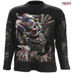 Spiral Direct Jack In The Box Hood,Gothic/Clown/Evil/Music/Rock/Pullover/Hoodie Cheap T Shirts, Cool Shirts, Mens Alternative Clothing, Tribal Outfit, Punk Rock Outfits, Jack In The Box, Boxing T Shirts, Mens Sweatshirts, Types Of Sleeves