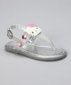 d906ea503897a Hello Kitty Silver Hello Kitty Jewell Sandal. Toddler ...