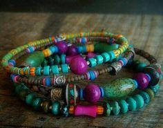 Colorful eye-catching bracelets