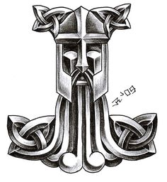 Viking Dragon And Thor Hammer Tattoos Viking Dragon, Viking Shield, Celtic Dragon, Viking Age, Celtic Art, Norse Mythology Tattoo, Norse Tattoo, Celtic Tattoos, Viking Tattoos