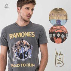 Começando a semana no ritmo de Rock and roll!  *camisas limitadas! Adquira a sua.  #DiadoRock #RadicalChic #Ellus