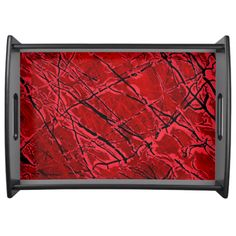 BLOOD ROYALE ~ (red abstract art design) ~ Food Tray  Original paintings can be found for sale through my Amazon store at: http://www.amazon.com/shops/artmatrix or you can make direct arrangements for them through me. JMO Zazzle designs: http://www.zazzle.com/thewhippingpost?rf=238063263784323237 To help an artist, you can donate here: http://www.gofundme.com/6am6lg
