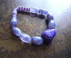 Royal Glass Cats Eye and Howlite Beaded Stretch by SatinDollCo