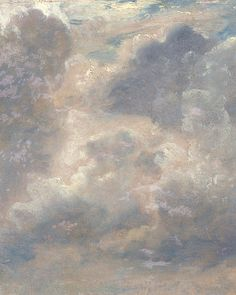 """John Constable - Cloud Study "" John Constable, RA – was an English Romantic painter. Born in Suffolk, he is known principally for his landscape paintings of Dedham Vale, the area surrounding his home — now known as. Angel Aesthetic, White Aesthetic, Aesthetic Art, Aesthetic Pictures, Mode Collage, Montage Photo, Aesthetic Painting, Classical Art, Renaissance Art"