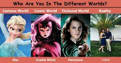Who Are You In The Different Worlds?