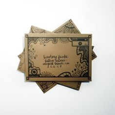 """DIY Mail Art Envelope Template 