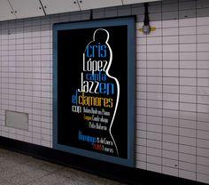 Cartel de La Mottora para Cris López canta Jazz en el Clamores