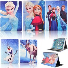 Frozen Character Folio Stand PU Leather Smart Case Cover Fr Apple iPad 2 / 3 / 4