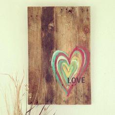 Wood Pallet Heart