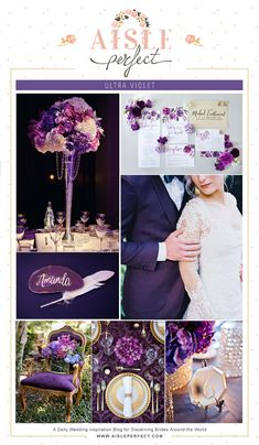 Pantone 2018 Color of the Year- Ultra Violet Wedding Inspiration