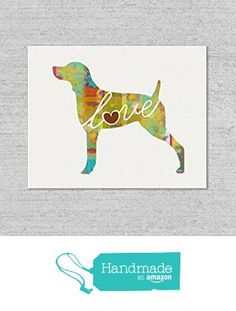English Pointer Love - An Unframed Canvas Paper / Watercolor-Style, Contemporary & Modern Dog Breed Wall Art Print from traciwithani http://www.amazon.com/dp/B0169DXYWC/ref=hnd_sw_r_pi_dp_yVQfwb1WGEPA8 #handmadeatamazon