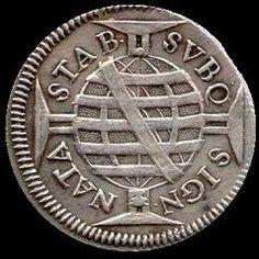 Moeda do Brasil colonial; cunhada em 1695 - reinado de D. Pedro II