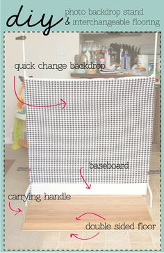 DIY   Photo Backdrop Stand U0026 Interchangeable Flooring.... Pallet Wood Floor,