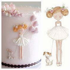 Pictures on request letizia grella children cake - Torten, Kekse, Muffins - kuchen kindergeburtstag Fondant Figures, Fondant Cakes, Cupcake Cakes, Birthday Cakes For Women, Birthday Cake Girls, Decors Pate A Sucre, Girly Cakes, Ballerina Cakes, Just Cakes