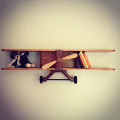 Travel/Aviator Nursery Airplane Bookshelf