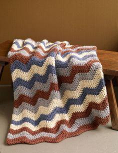 Clockhouse Ripple Afghan #free #crochet #pattern