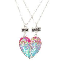 Bff Necklaces, Best Friend Necklaces, Best Friend Jewelry, Friendship Necklaces, Silver Necklaces, Silver Earrings, Unicorn Fashion, Cute Jewelry, Gifts For Mom