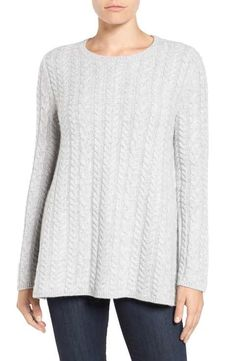 Nordstrom Collection Cable Knit Cashmere Sweater