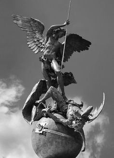 Archangel Michael, Vatican City (from pinterest but link is in color without credit)Artemis: Another St. Michael. :)
