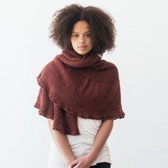 masala shawl knitting pattern - Quince and Co