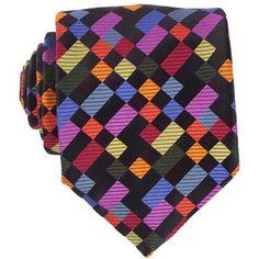 Men's Ties - Black Boolean Boxes Tie by Duchamp #Ties #Duchamp