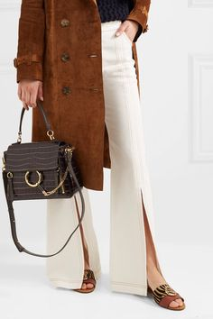 3df905e5d9ad Chloé - Faye Day small croc-effect leather shoulder bag