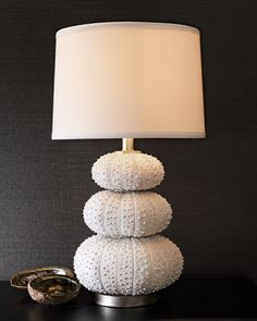 """Stacked Sea Urchin"" Lamp by Regina-Andrew Design at Horchow."