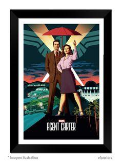 Poster Marvel Agent Carter | Moldura preta ou branca - R$55,00 | #efposters #efposters_oficial #posters #quadros #posterpersonalizado #postermarvel #postermarvelagentcarter #marvelagentcarter #agentcarter