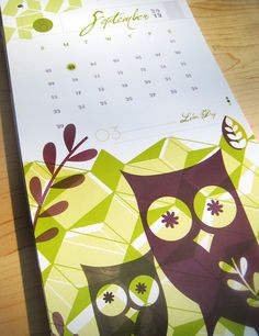I SO want a pretty Owl calendar for our new house!<3