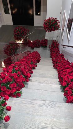 Travis Scott Surprises Kylie Jenner By Covering Entire House With Roses and Candles. Make-up mogul, Kylie Jenner, returned to her . Kylie Jenner Haus, Jenner House, Kylie Jenner Bedroom, Kylie Jenner Birthday, Rosen Box, Romantic Surprise, Luxury Flowers, Wedding Proposals, Luxury Life