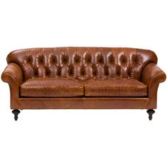 Charles Leather Sofa  in Chestnut leather or Vance earth fabric for formal LR.