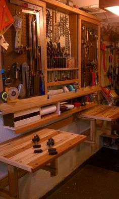 BMF fold down work tables - by Homebrew @ LumberJocks.com ~ woodworking community
