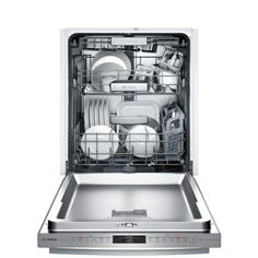 Bosch 800 Series Top Control Tall Tub Bar Handle Dishwasher in Stainless Steel with Stainless Steel Tub and Rack, - The Home Depot Built In Dishwasher, Kitchenaid Dishwasher, Quiet Dishwashers, Fully Integrated Dishwasher, Shops, Energy Star, Bosch, Tub