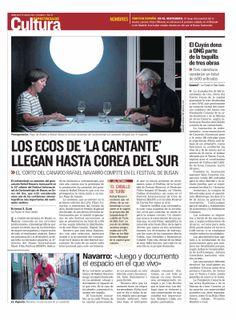 Noticia en Canarias 7 de la selección de 'La cantante' de Rafael Navarro Miñón, en el Busan Short Film Festival, en Corea del Sur. 19/03/2014