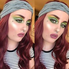 I recreated this look that I did a year ago. It was inspired by the beautiful and talented @tinahalada 💚💚…
