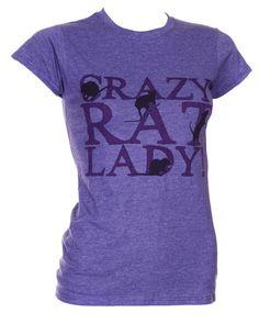 Crazy Rat Lady - Ladies Rat T-Shirt