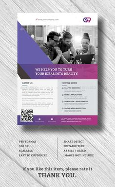 Corporate Business Flyer by graphix_shiv Corporate Flyer �20Features Creative and Minimalist flyer, perfect for any personal or corporate use. It's ideal for any company p