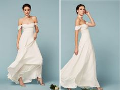 Ivory Strapless Gown - 21 Bohemian Wedding Dress for a Free Spirited Bride - EverAfterGuide