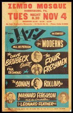 Dave Brubeck Original Concert  Poster
