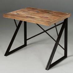 Bureau en bois (Teck) et métal IsisL 100 x P 70 x H 75 prix : 508.99€