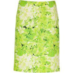 TIBI Lime Green Silk-Linen Skirt ($87) ❤ liked on Polyvore featuring skirts, saias, bottoms, green, юбки, lime skirt, fitted skirt, green skirt, green a line skirt and linen a line skirt