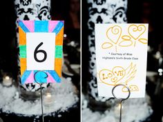 Table Numbers made by bride's students.  Photo by Two Birds Photography www.twobirdsphoto.com