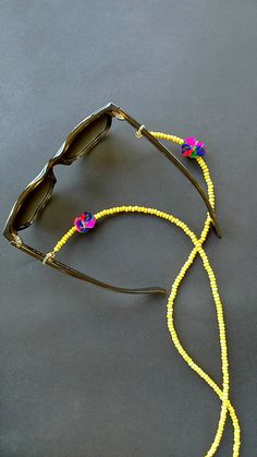 Sunglass chainEyeglass chainyellow sunglass stringboho