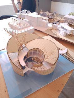Maquette Architecture, Concept Models Architecture, Architecture Model Making, Architecture Wallpaper, Architecture Student, Facade Architecture, Site Analysis Architecture, Exibition Design, Croquembouche