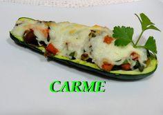 Riquísimo este calabacin relleno de verduras salteadas y setas, es ligero y muy saludable, ideal como entrante. Se hace en poco tiempo y es muy fácil de elaborar.
