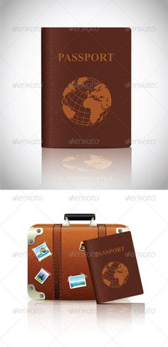 Passport and Suitcase Set