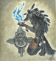 I think I've found my little nitch. I really enjoy doing American Indian styles in my artwork. Some of my descendants were Native Americans. Essence of the Spirit Native American Wolf, American Indians, Werewolf Art, All Icon, Photoshop Cs5, Night Life, Spirit, Deviantart, Wolves